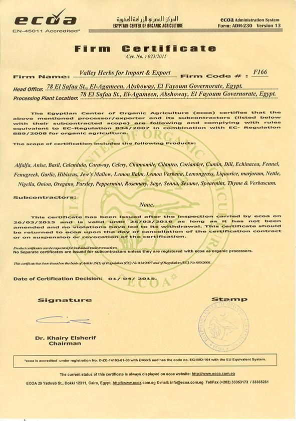 Ecoa certificate 001
